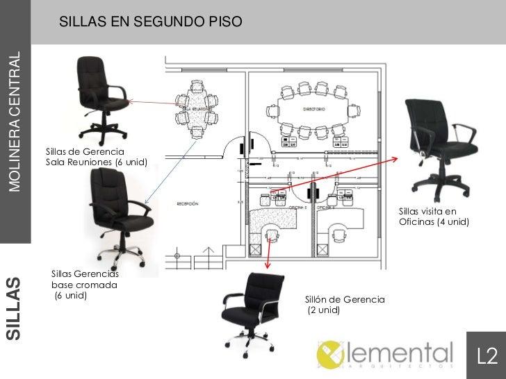 SILLAS EN SEGUNDO PISOMOLINERA CENTRAL                   Sillas de Gerencia                   Sala Reuniones (6 unid)     ...