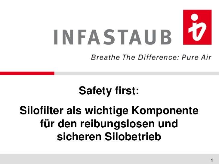 Safety first:Silofilter als wichtige Komponente    für den reibungslosen und         sicheren Silobetrieb                 ...