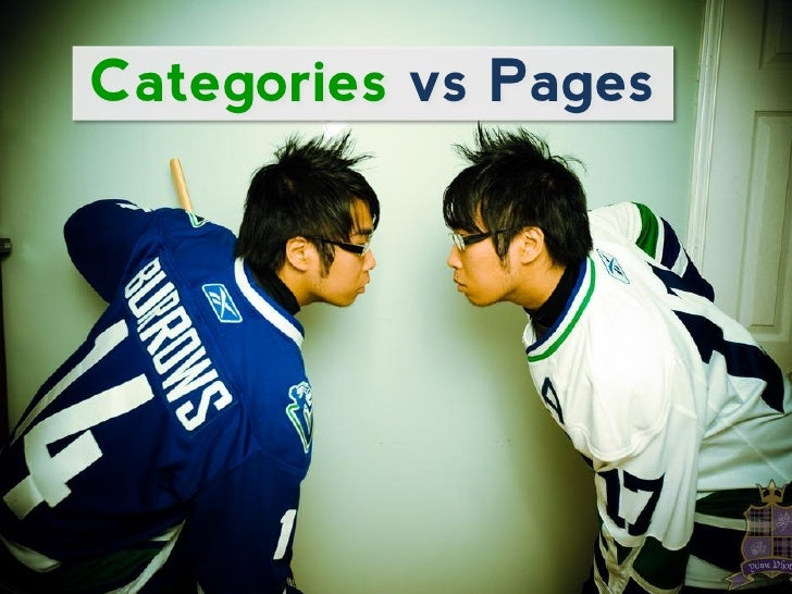 Categories vs Pages