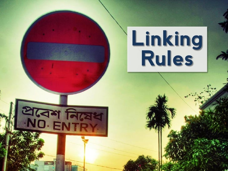 Linking Rules