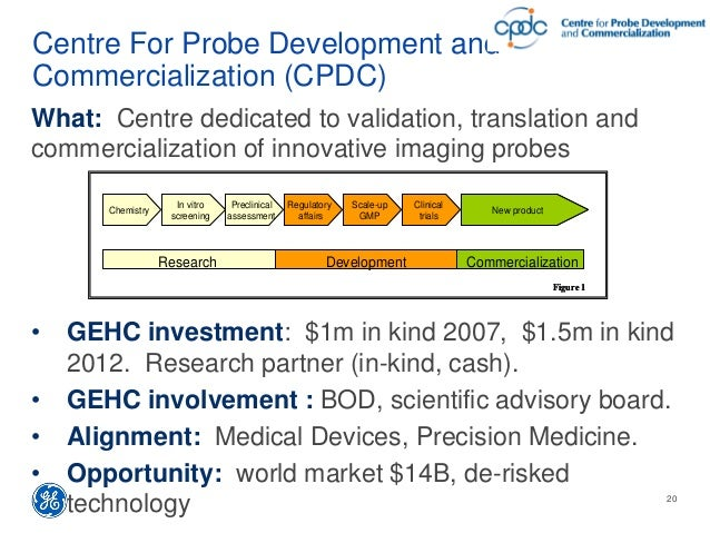 Centre For Probe Development and Commercialization (CPDC) What: Centre dedicated to validation, translation and commercial...