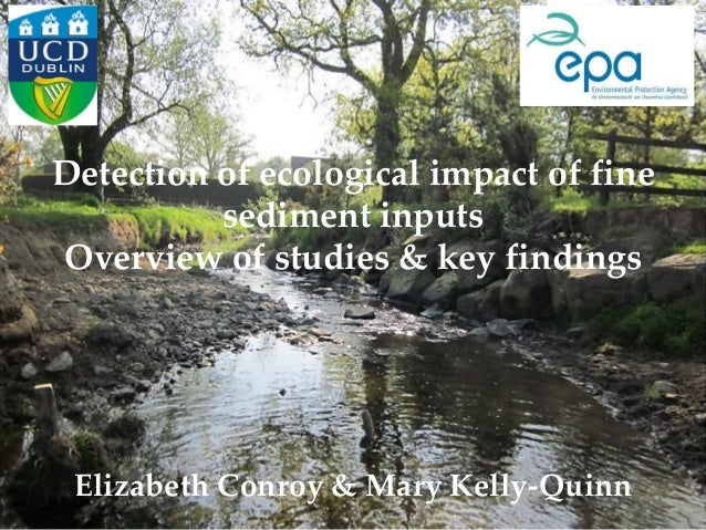 Detection of ecological impact of fine sediment inputs Overview of studies & key findings Elizabeth Conroy & Mary Kelly-Qu...