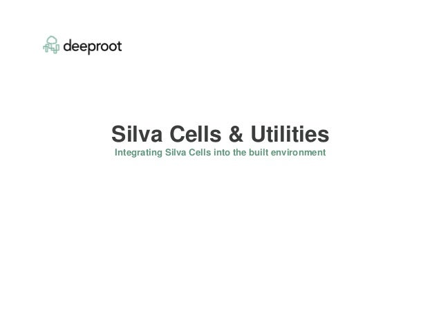 Silva Cells & Utilities Integrating Silva Cells into the built environment