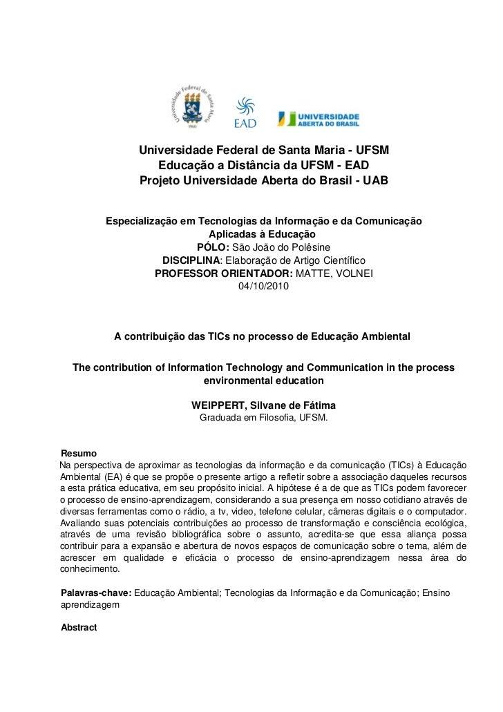 UniversidadeFederaldeSantaMariaUFSM                        EducaçãoaDistânciadaUFSMEAD                     P...