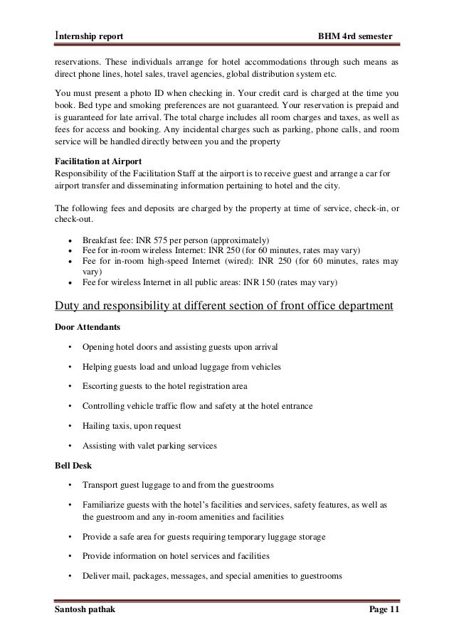 Internship Report Outline Homework Service