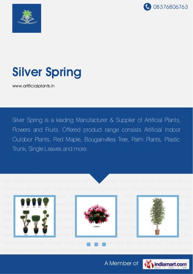 08376806763A Member ofSilver Springwww.artificialplants.inArtificial Plants Artificial Indoor Outdoor Plants Ficus Plant D...