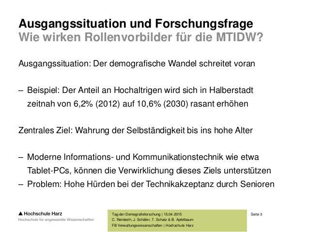 Zum Einfluss der Darstellung von Rollenvorbildern auf die Mensch-Technik-Interaktion im demografischen Wandel Slide 3