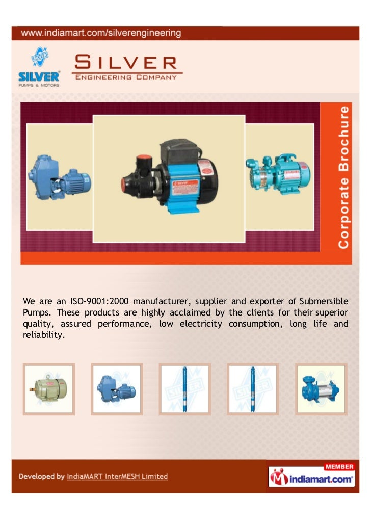 We are an ISO-9001:2000 manufacturer, supplier and exporter of SubmersiblePumps. These products are highly acclaimed by th...