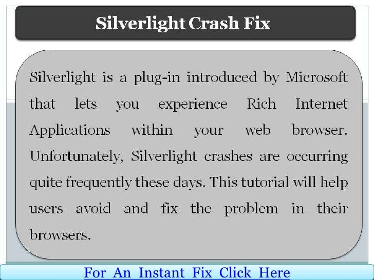 For An Instant Fix Click Here