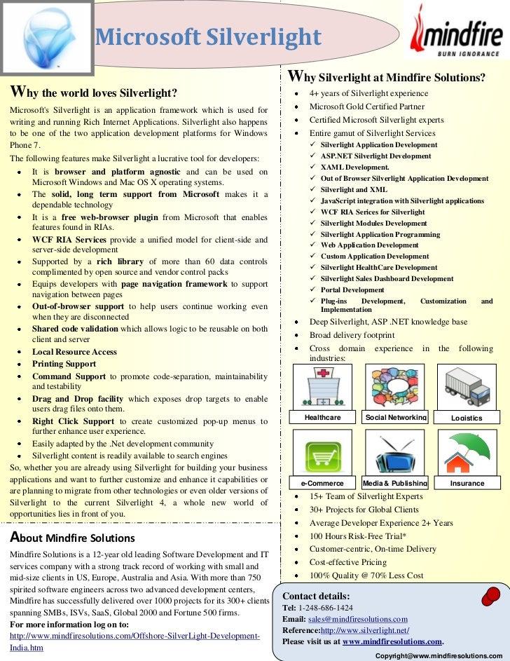 Microsoft Silverlight                                                                               Why Silverlight at Min...