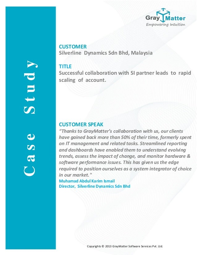 CUSTOMER Silverline Dynamics Sdn Bhd, Malaysia TITLE Successful collaboration with SI partner leads to rapid scaling of ac...