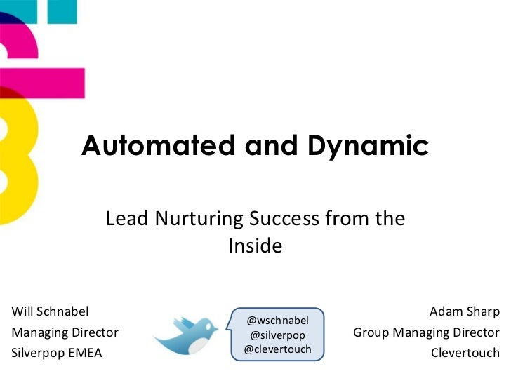 Automated and Dynamic              Lead Nurturing Success from the                           InsideWill Schnabel          ...