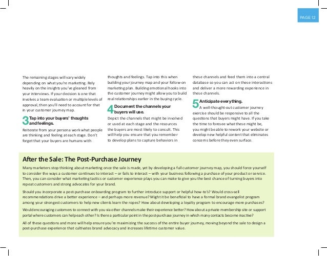 PAGE 12 The remaining stages will vary widely depending on what you're marketing. Rely heavily on the insights you've glea...