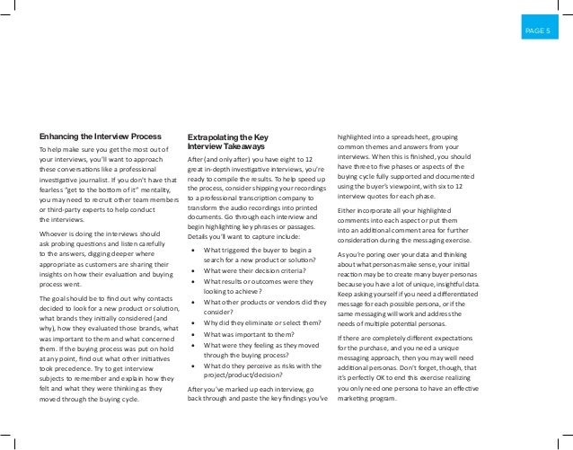 PAGE 5 Enhancing the Interview Process To help make sure you get the most out of your interviews, you'll want to approach ...