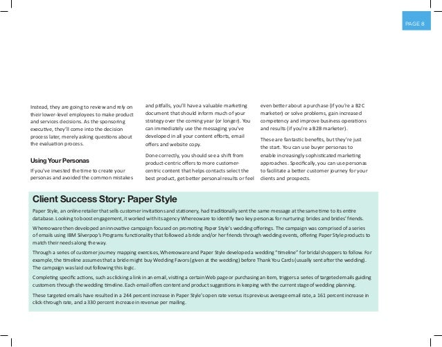 PAGE 8 Instead, they are going to review and rely on their lower-level employees to make product and services decisions. A...