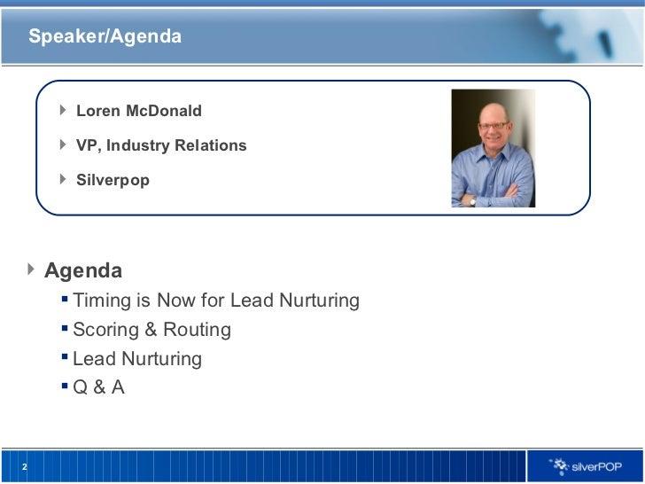 Lead Nurturing Best Practices in Tough Times Slide 2