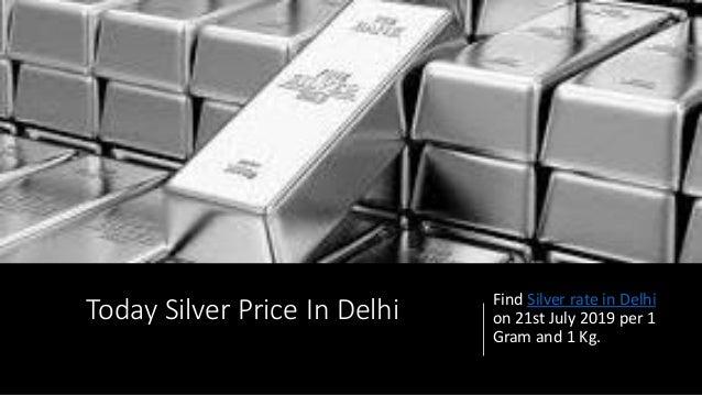 Silver Rate In Delhi