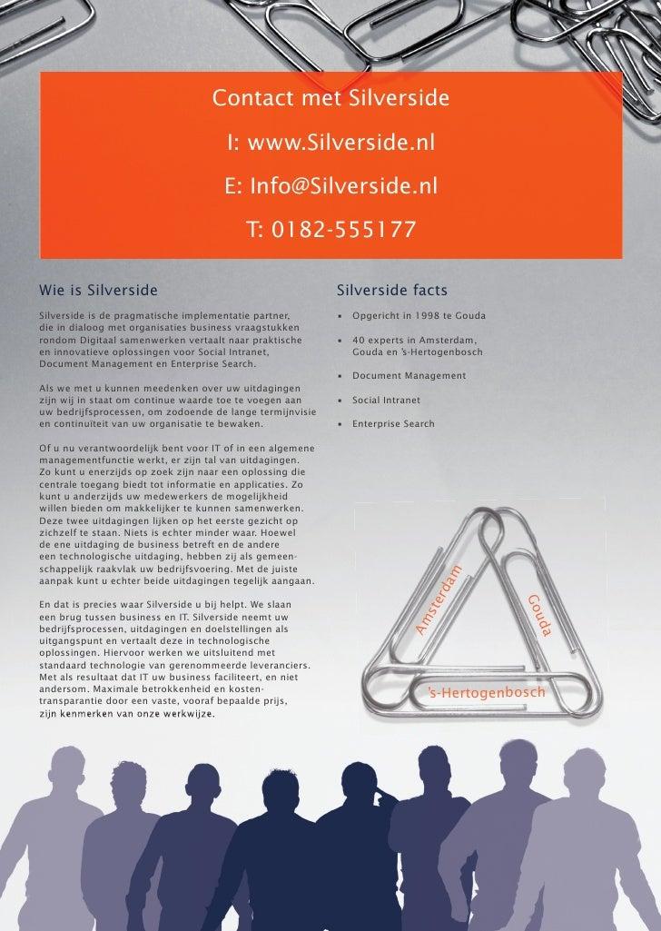 Contact met Silverside                                       I: www.Silverside.nl                                      E: ...
