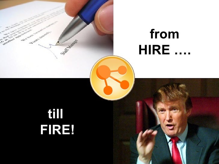from HIRE …. till  FIRE!