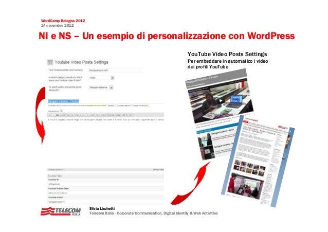 WordCamp Bologna 201224 novembre 2012NI e NS – Un esempio di personalizzazione con WordPress                              ...
