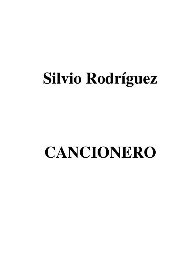 Cancionero con acordes de Silvio Rodriguez