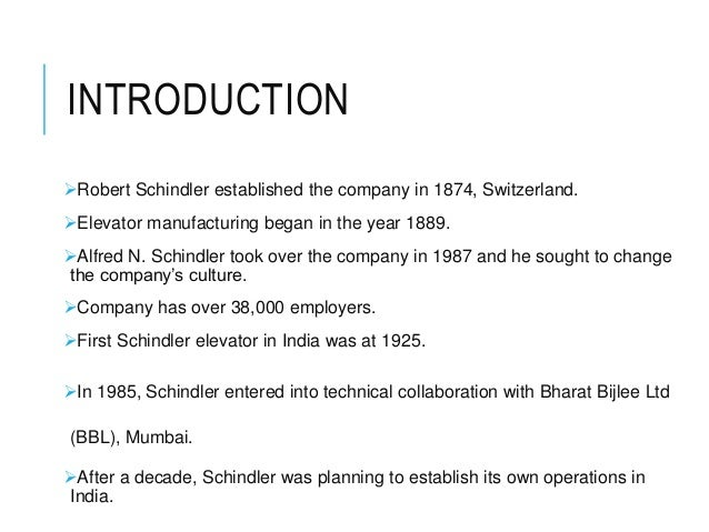 silvio napoli at schindler india essay In line with this market entry strategy the corporate executive committee  appointed silvio napoli to head the launch into india their decision.