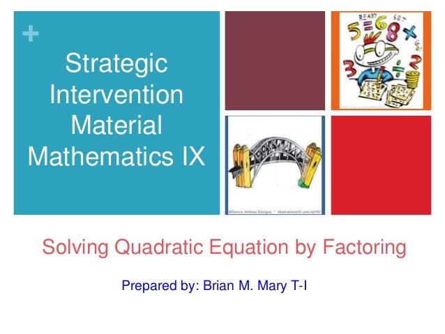 Strategic Intervention Materials