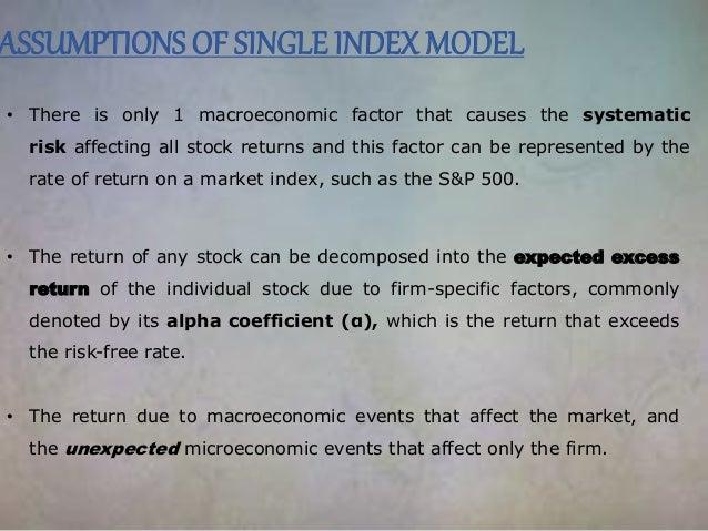 Index model investopedia single Single index