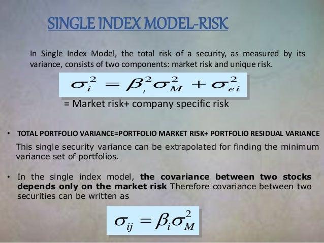 Model investopedia index single 3. sharpe