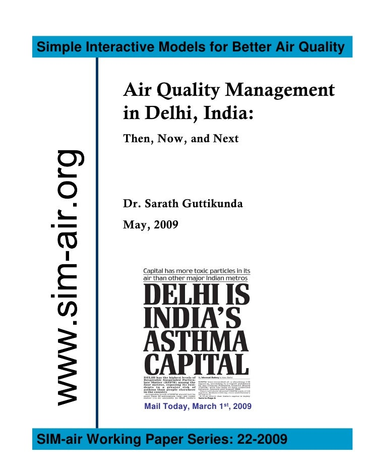 Simple Interactive Models for Better Air Quality                Air Quality Management              in Delhi, India:      ...