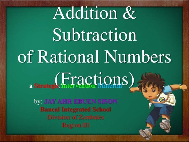 SIM for Mathematics; Addition and Subtraction of Rational Numbers