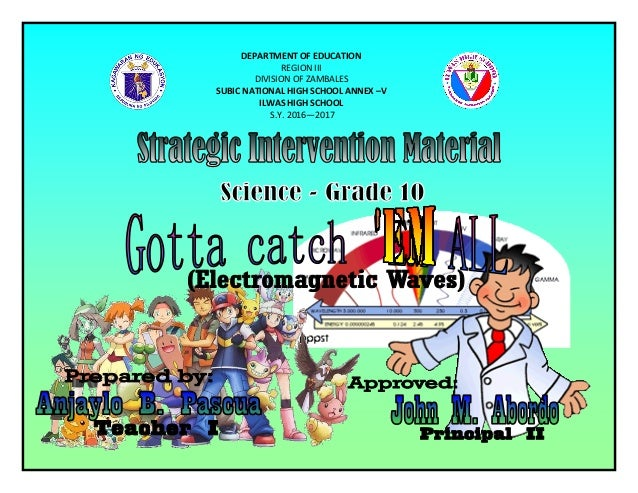 DEPARTMENT OF EDUCATION REGION III DIVISION OF ZAMBALES SUBIC NATIONAL HIGH SCHOOL ANNEX –V ILWAS HIGH SCHOOL S.Y. 2016—20...