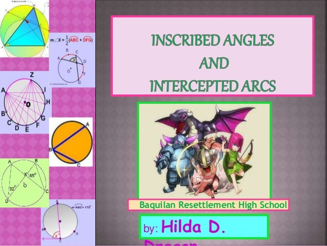 Inscribed Angle And Intercepted Arc