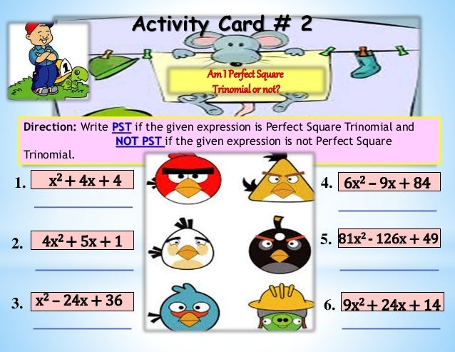 Factoring Perfect Square Trinomial - SIM