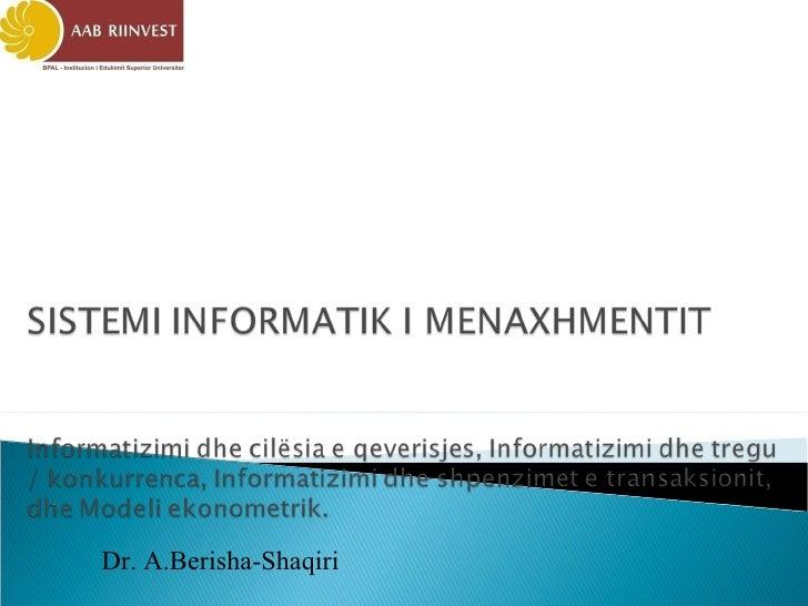 Dr. A.Berisha-Shaqiri