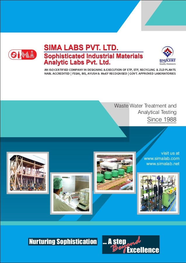 Waste Water Treatment and Analytical Testing Since 1988 Nurturing Sophistication visit us at www.simalab.com www.simalab.n...