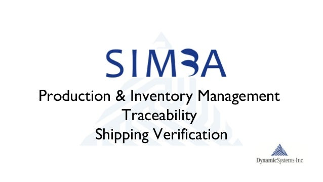 Production & Inventory ManagementTraceabilityShipping Verification