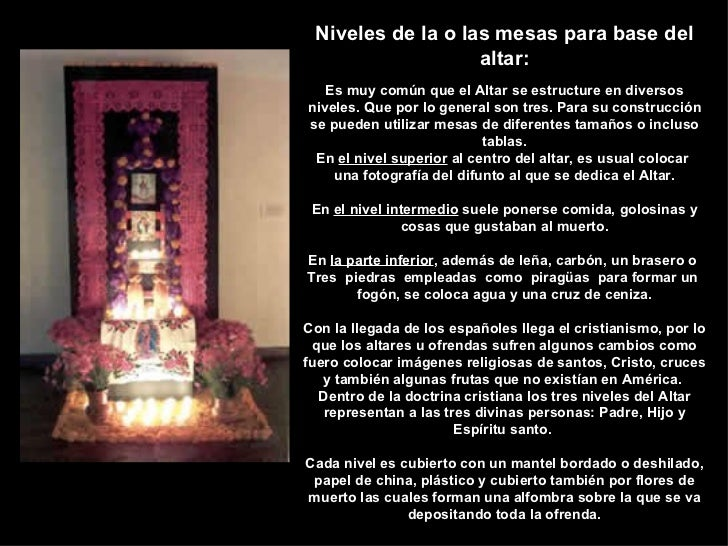 Simbolismos En El Altar Del Dia De Muertos