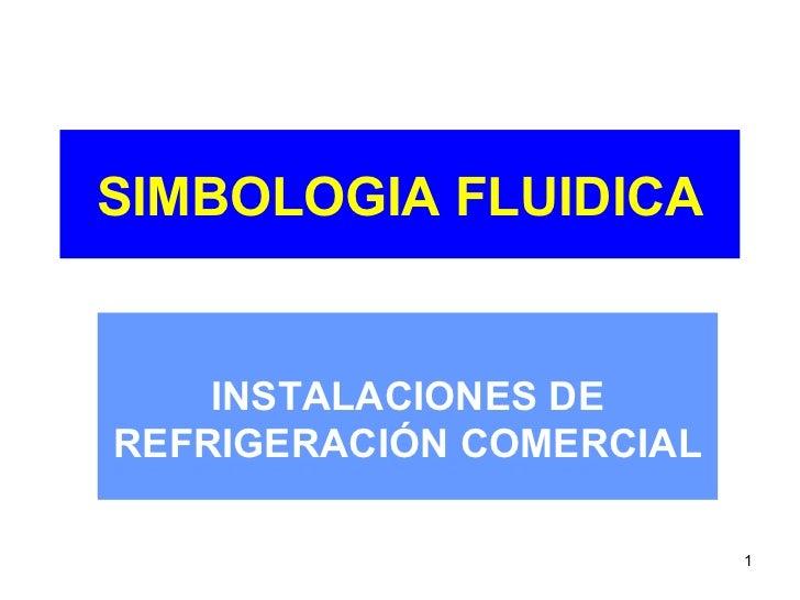 SIMBOLOGIA FLUIDICA INSTALACIONES DE REFRIGERACIÓN COMERCIAL