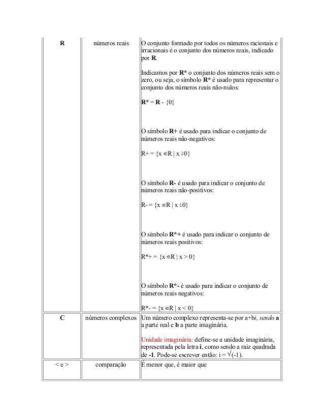 Simbolos matemticos 5 r nmeros reais ccuart Images