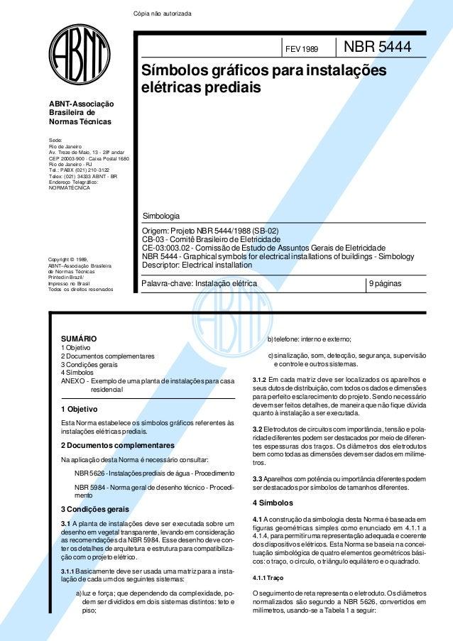 Copyright © 1989,ABNT–Associação Brasileirade Normas TécnicasPrinted in Brazil/Impresso no BrasilTodos os direitos reserva...