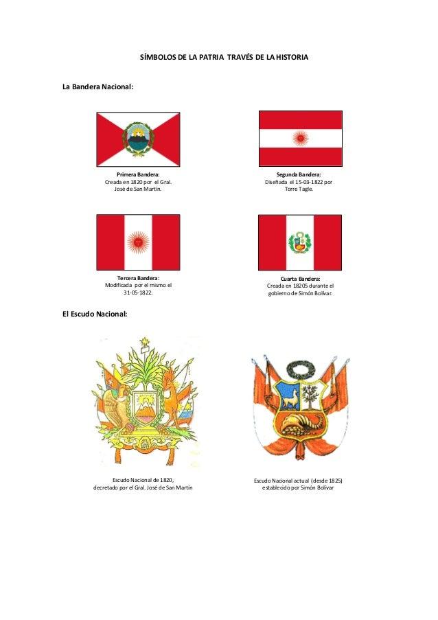 SÍMBOLOS DE LA PATRIA TRAVÉS DE LA HISTORIALa Bandera Nacional:El Escudo Nacional:Escudo Nacional de 1820,decretado por el...