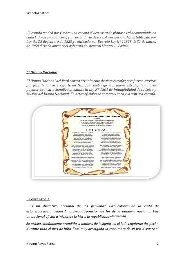 Simbolos patrios  Slide 2