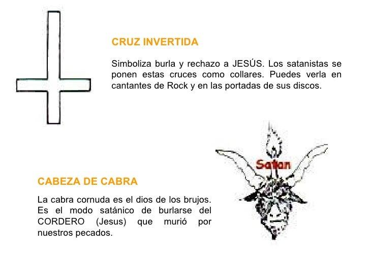 Simboliza burla y rechazo a JESÚS. Los satanistas se ponen estas cruces como collares. Puedes verla en cantantes de Rock y...