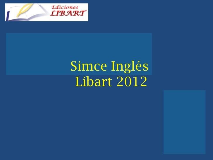 Simce Inglés  Libart 2012