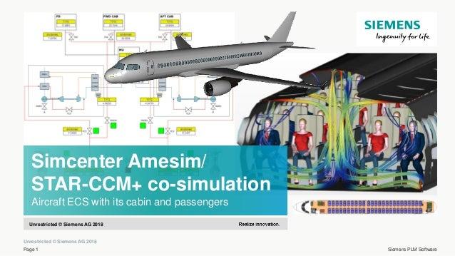 Simcenter Amesim/STAR-CCM+ co-simulation – Aircraft ECS with