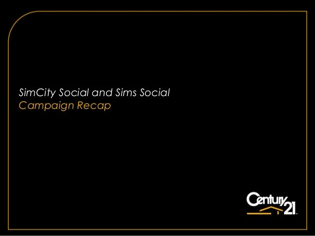 SimCity Social and Sims SocialCampaign Recap