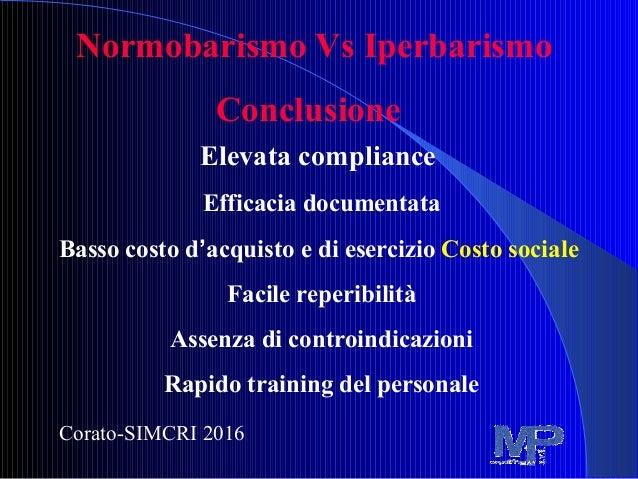 Simcri 2016 Ossigenoterapia Normobarica Vs Iperbarica