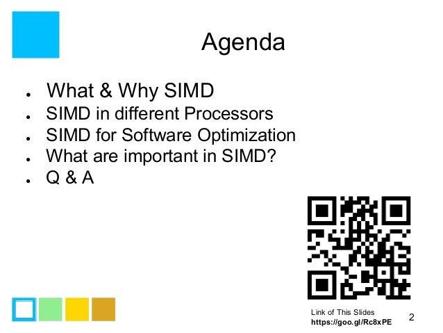 Simd programming introduction Slide 2