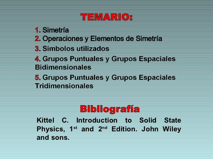 Kittel C. Introduction to Solid State Physics, 1 st  and 2 nd  Edition. John Wiley and sons.